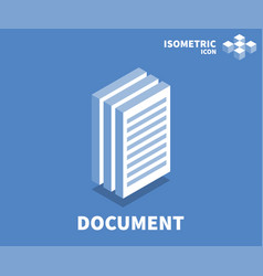 document icon symbol vector image