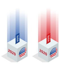 election day usa debate president voting 2020 vector image