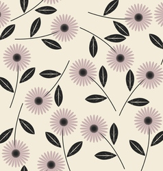 Elegant seamless pattern with stylish flowers 1 vector image