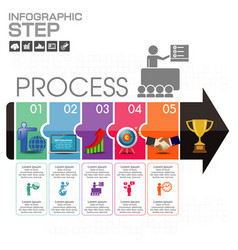 elements for infographic template for diagram vector image