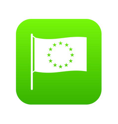 european flag icon green vector image