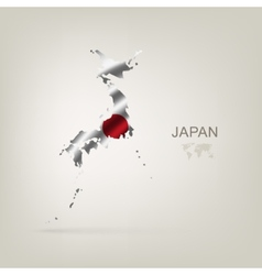 flag japan as a country vector image