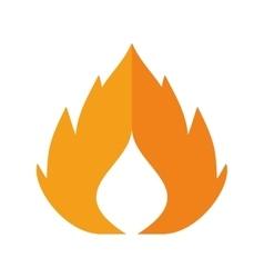 Flame icon Fire design graphic vector