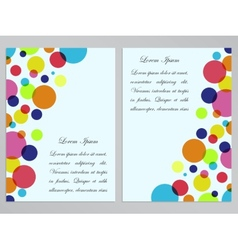 Flyers with colorful circles design vector