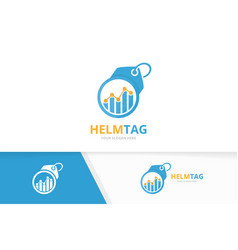 graph and tag logo combination diagram and vector image