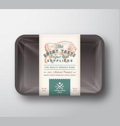 Great taste bison abstract meat plastic vector