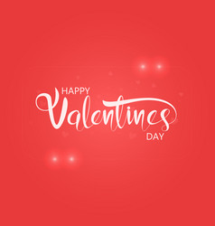 happy valentines day typography posterhandwritten vector image