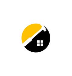 home repair logo template design vector image