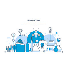 Innovation creative brainstorming research vector