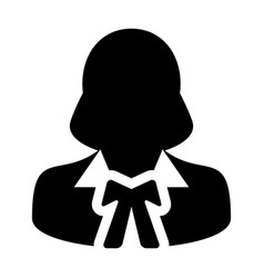 Justice icon female user person profile avatar vector