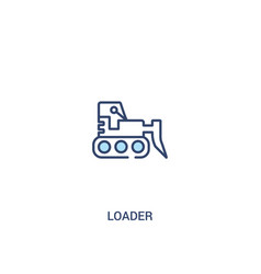 Loader concept 2 colored icon simple line element vector
