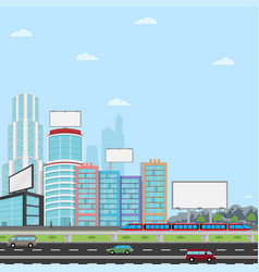 many blank urban billboards with for your vector image