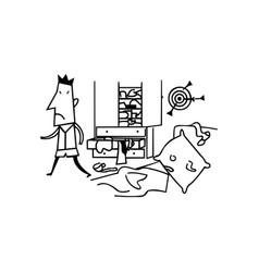 Messy room boys cartoon vector