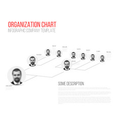 minimalist hierarchy 3d chart vector image