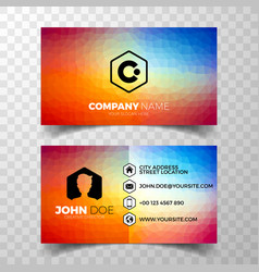 modern abstract business card design template vector image