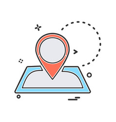 navigation icon design vector image