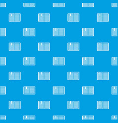 open book with a bookmark pattern seamless blue vector image