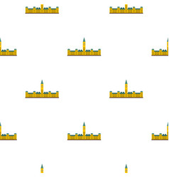 Parliament hill ottawa pattern seamless vector