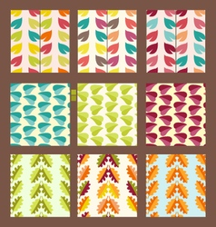 pattern with leaves decorative background vector image