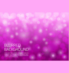 pink blurred background with twinkly lights vector image