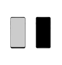 realistic smartphone mockup isolated vector image