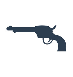revolver icon on white background vector image