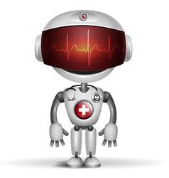 Robot cardiogramm vector