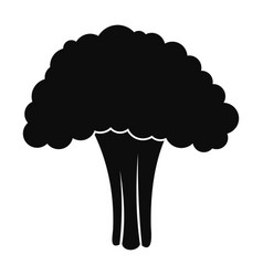 Salad broccoli icon simple style vector