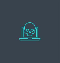 Scam concept blue line icon simple thin element vector