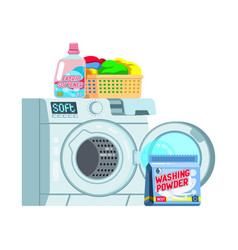 set household supplies group detergents vector image