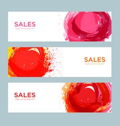 set sale banners design vector image