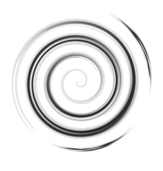 Silver watercolor spiral vector image