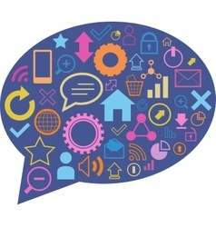 Speech bubble with web elements vector