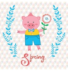 Spring pig vector