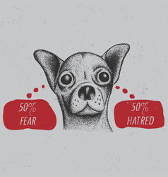 Stylish chihuahua poster vector