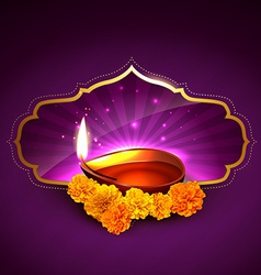 stylish diwali background vector image