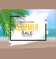 summer sale concept poster background vector image