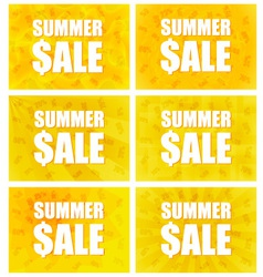 Summer Sale - Set Of Six Variants vector image
