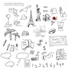 Symbols sketch vector