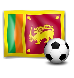 The flag of SriLanka with a soccer ball vector image