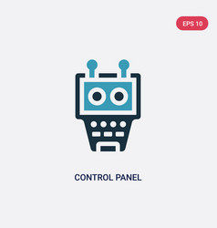 two color control panel icon from industry vector image