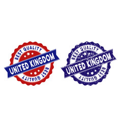 united kingdom best quality stamp with scratched vector image