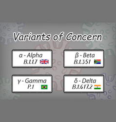Variants concern alpha beta gamma delta covid-19 vector