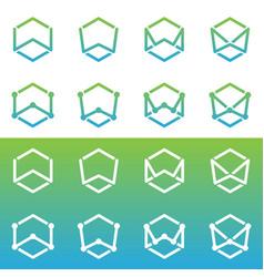 W logo vector