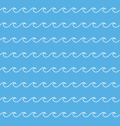 wave lines seamless pattern vector image