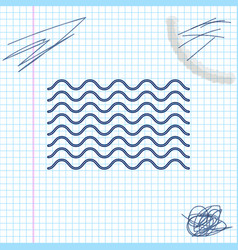 waves line sketch icon isolated on white vector image