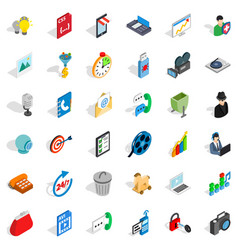 Web page icons set isometric style vector