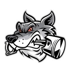 Wolf bite piston vector