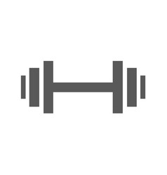 barbell icon simple vector image