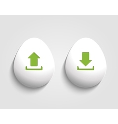 download and send Egg button vector image